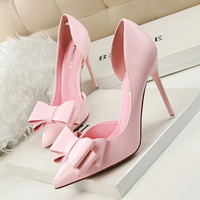 Sweet Bowknot High-heeled Shoes