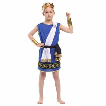 CREY6F Shanghai Story Boy Stage Cosplay Costumes Zeus Children Play Dress Up Cosplay New Boy Halloween Costumes