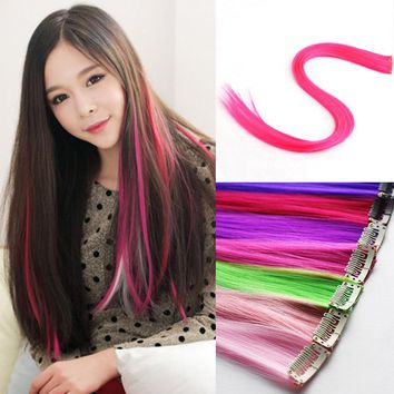 TINSAI 1Pcs Fashion Women Wig Hairpins Headwear Punk Fluorescent Color Hot Sale Hairpin For Girl Hair Accessories 12Color