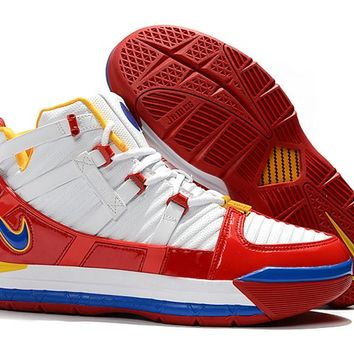 Nike Lebron 3 LBJ3 White/Red/Yellow/Blue