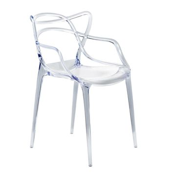 Fine Mod Imports Brand Name Dining Chair, Clear