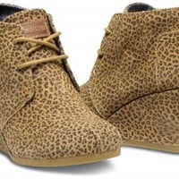 Cheetah Suede Women's Desert Wedges
