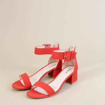 Katz Single Band Ankle Sandal, Red