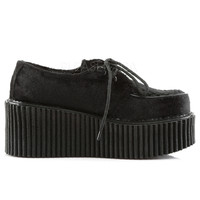 Black Suede Gothic Rave Creeper Shoes