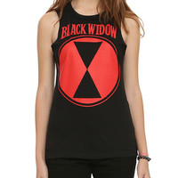 Marvel Black Widow Girls Muscle Top