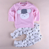 Baby Girl Sheep printed t-shirt+pants