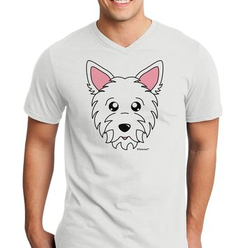 Cute West Highland White Terrier Westie Dog Adult V-Neck T-shirt by TooLoud