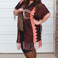 Knit + Fray Tribal Cardigan {Curvy}