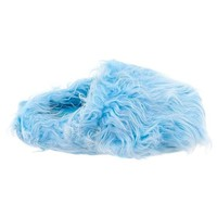 Light Blue Fuzzy Slippers for Women L 8-9