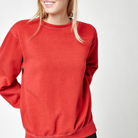 John Galt Red Erica Crew Neck Sweatshirt at PacSun.com
