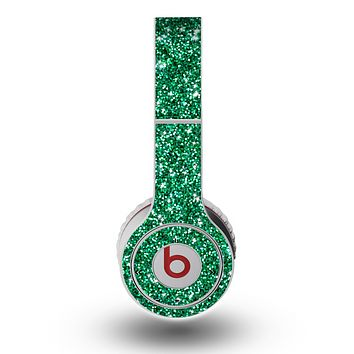 The Green Glitter Print Skin for the Original Beats by Dre Wireless Headphones