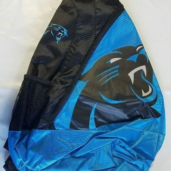 Carolina Panthers BackPack / Back Pack Book Bag NEW - TEAM COLORS - SLING