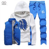 polo sweat suit tracksuit men hoodies men tracksuit set jacket vest pants men clothing set sportsuit jogger men sweat homme 2016