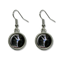 Gymnist Blue - Gymnastic Vault Pommel Horse Dangling Drop Earrings