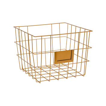 Blaine Metal Basket in Copper