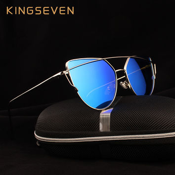 Kingseven Brand designer 2016 Cat Eye Sunglasses Women Polarized Oculos de sol Points Glasses Female eyewear Women's shades K794
