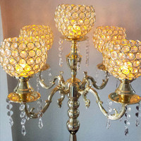 Candelabra 5 Cup Gold 85cm   Trident Direct