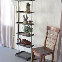 Kalalou Tall Metal shelving unit with 6 Shelves CQ6492