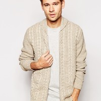 ASOS Cable Knit Bomber Jacket