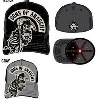 SOA Sons of Anarchy Two Color Fitted Baseball Cap Hat - Sons of Anarchy - | TV Store Online