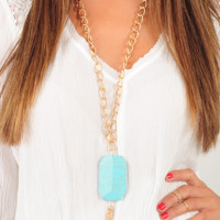 Rock Your Body Necklace: Turquoise