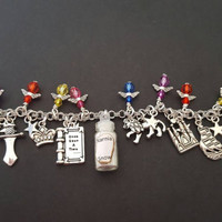 The lion the witch and the wardrobe narnia snow inspired charm bracelet