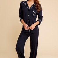 Eberjey - Gisele Embroidered PJ Set