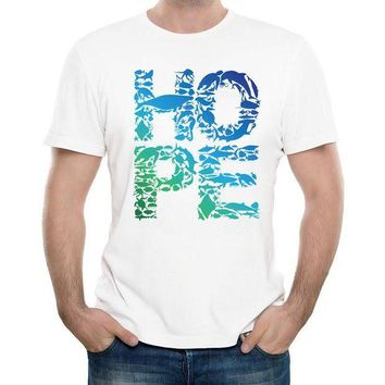VLX85E Beauty Ticks New 2017 Men S Hope Word Design T Shirt Summer Cool Tops Soft Short Sleeve Tee