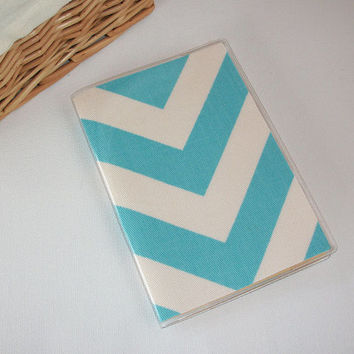 Passport Cover / Holder / Case - Chevron - Zig Zag - ZigZag - BLUE