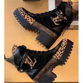 Copy of LV Boots Louis Vuitton Monogram print Shoes High heel high tops Shoes