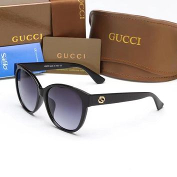 """Gucci"" Fashion All-match Personality Little Bee Big Frame Sunglasses Glasses"