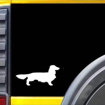Longhaired Dachshund Decal dog Sticker *J616*