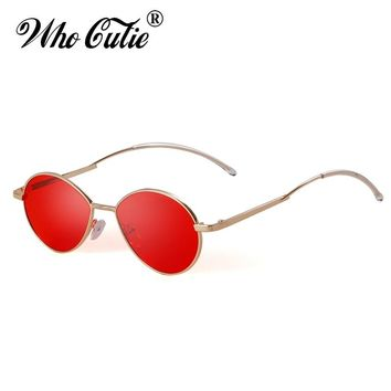059df6758d4 Fashion 90s Oval Skinny Sunglasses Men Women Brand Designer Retr