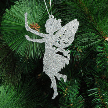 Christmas decorating supplies 14 x9cm five colors angel shape ornaments 10g christmas tree hanging decorations