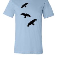 raven mystical crows flying birdsv - Unisex T-shirt
