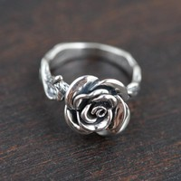 Women Rose Sterling Silver RIng
