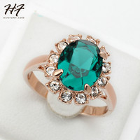 *FREE* Green Emerald Rhinestone Ring