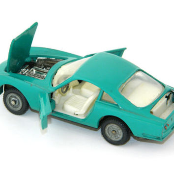 Green Car Model Ferarri 250 GT Berlinetta,Russian vintage,soviet vintage,vintage car,vintage model car,Made in USSR,Scale 1:43,metal car
