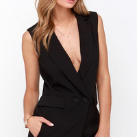 Whistle While You Werk Black Romper