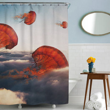 Jelly Clouds Shower Curtain, Printed in USA