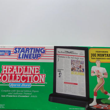 Vintage Joe Montana Starting Lineup Headline Collection NEW 1992