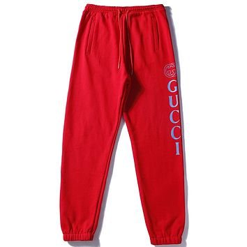 Gucci Women or Men Fashion Casual Loose Pants Trousers