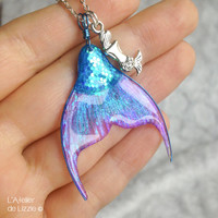 Mermaid Tail pendant, design by Anceos©