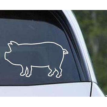 Pig Outline Die Cut Vinyl Decal Sticker
