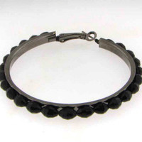 "Black Hoop 2"" Earrings"