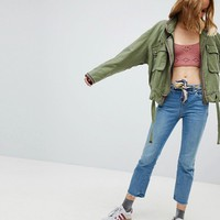 Free People Flight Line Military Jacket at asos.com