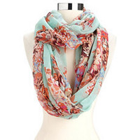 Spring Floral Infinity Scarf: Charlotte Russe