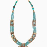 Moon Shield Necklace - Turquoise in  Accessories at Nasty Gal