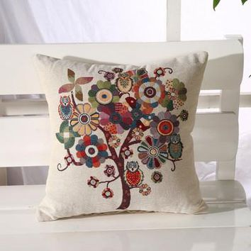 Cartoon Handmade Owl Home Decor Pillow Decorative Throw Pillows Cute Drawing 20
