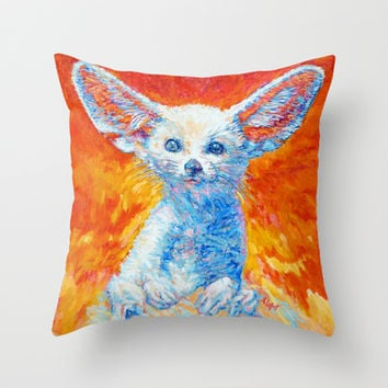 Fennec (desert Fox) Throw Pillow by Liliya_Chernaya